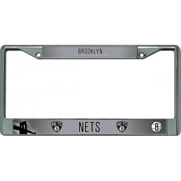 Brooklyn Nets Chrome License Plate Frame