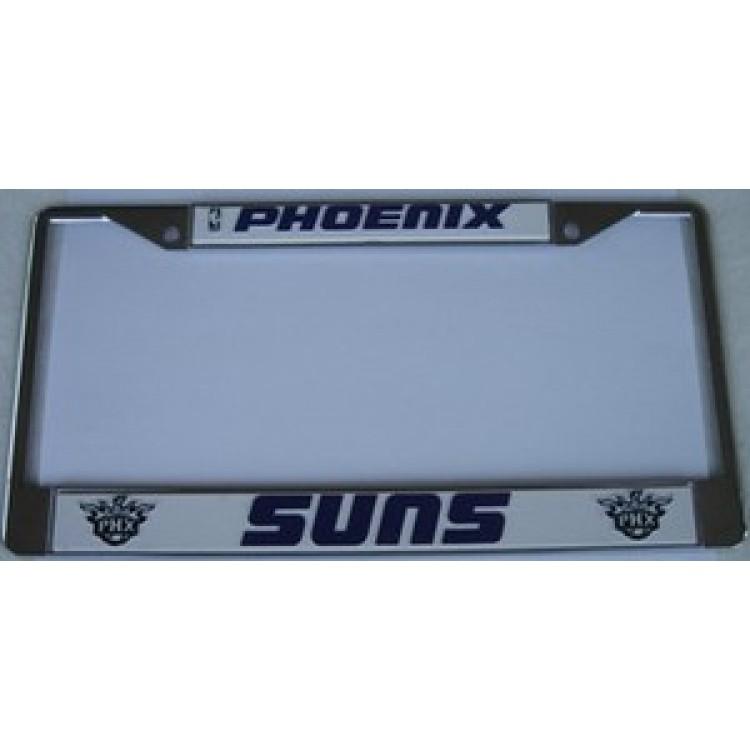 Phoenix Suns Chrome License Plate Frame