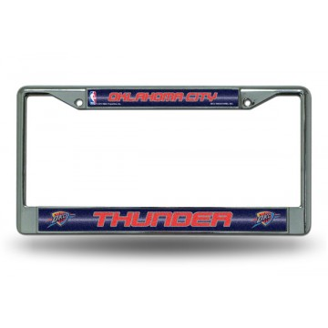 Oklahoma City Thunder Glitter Chrome License Plate Frame