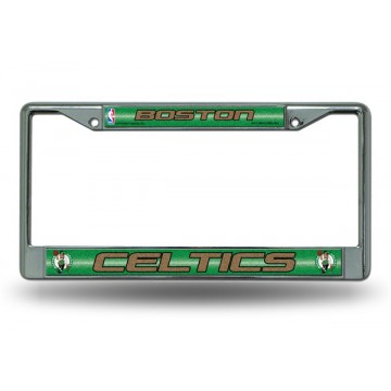 Boston Celtics Glitter Chrome License Plate Frame