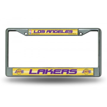 Los Angeles Lakers Glitter Chrome License Plate Frame
