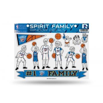 Oklahoma City Thunder Family Decal Set