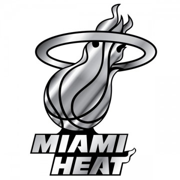 Miami Heat NBA Chrome Auto Emblem