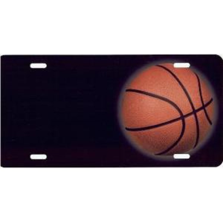 Basketball Offset Airbrush License Plate