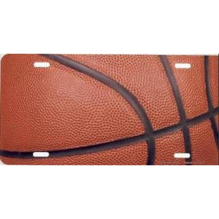 Basketball Airbrush License Plate