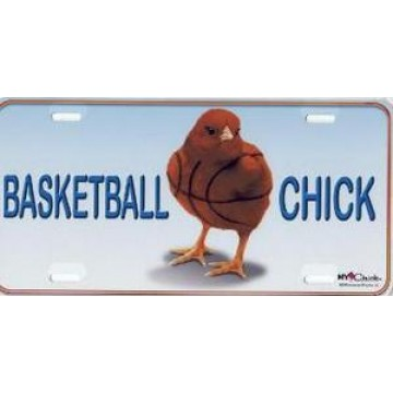 Basketball Chick Airbrush License Plate