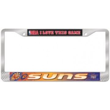 "Phoenix Suns ""NBA I Love This Game"" Chrome License Frame"