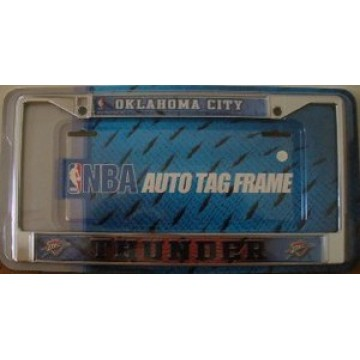 Oklahoma City Thunder Chrome License Plate Frame