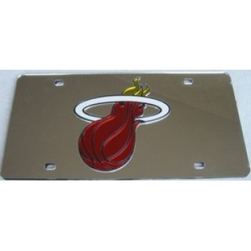 Miami Heat Laser Cut License Plate