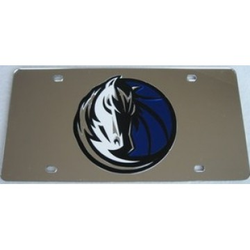 Dallas Mavericks Laser Cut License Plate