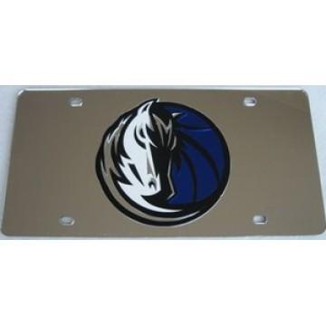 Dallas Mavericks Silver Laser License Plate