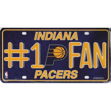 Indiana Pacers #1 Fan License Plate
