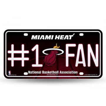 Miami Heat #1 Fan Glitter License Plate