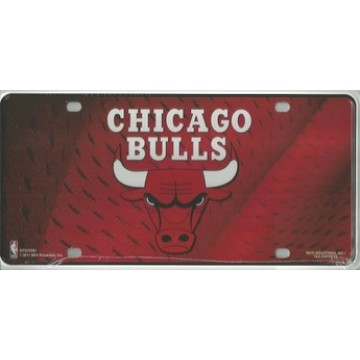 Chicago Bulls Metal License Plate