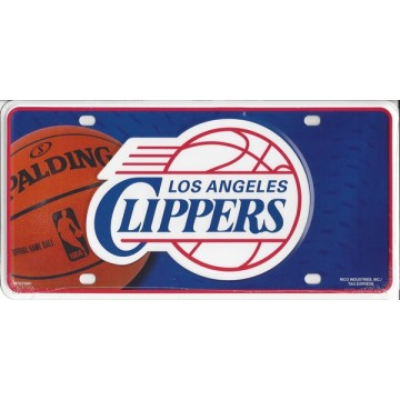 Los Angeles Clippers Metal License Plate