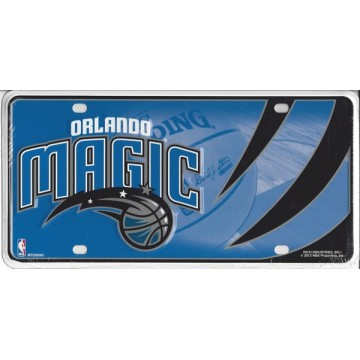 Orlando Magic Metal License Plate
