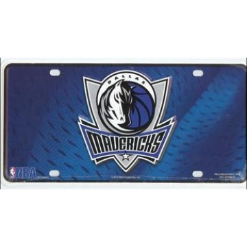 Dallas Mavericks Metal License Plate