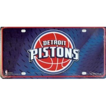 Detroit Pistons Metal License Plate