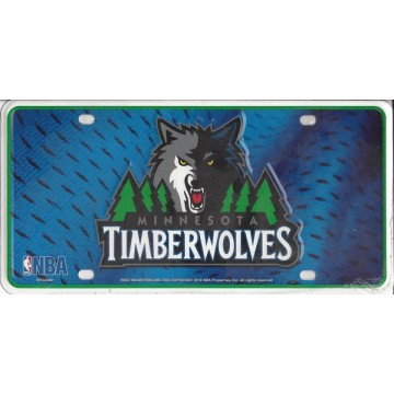 Minnesota Timberwolves Metal License Plate