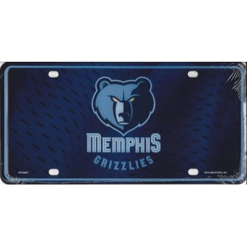 Memphis Grizzlies Metal License Plate