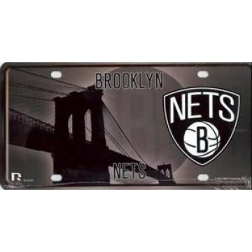 Brooklyn Nets Metal License Plate