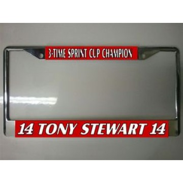 Tony Stewart Chrome License Plate Frame
