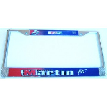 Mark Martin #6 Chrome License Frame