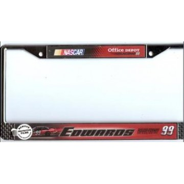 Carl Edwards #99 Nascar Chrome License Plate Frame