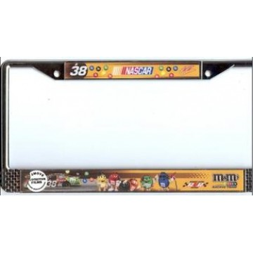 Elliott Sadler #38 Nascar Chrome License Plate Frame