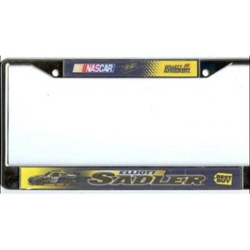 Elliott Sadler #19 Nascar Chrome License Plate Frame