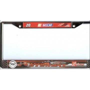 Tony Stewart #20 Nascar Chrome License Plate Frame