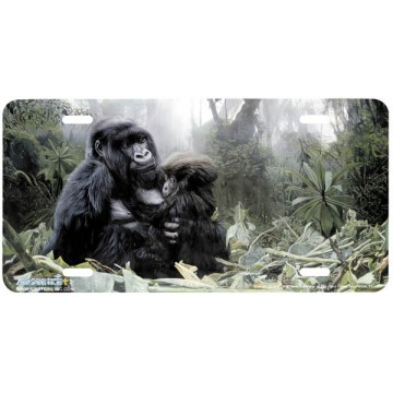 """Refuge"" Gorilla License Plate"
