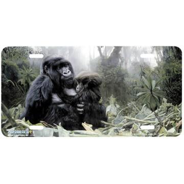 """""""Refuge"""" Gorilla License Plate"""