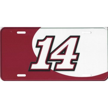 Nascar #14 Racing Photo License Plate