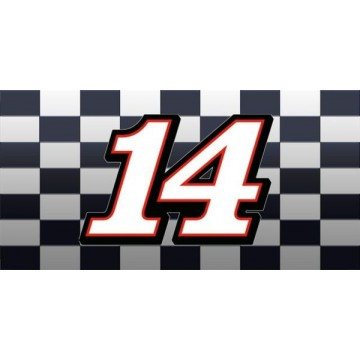 Tony Stewart #14 Photo License Plate