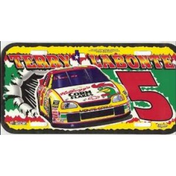 Terry Labonte #5 Nascar Plastic License Plate