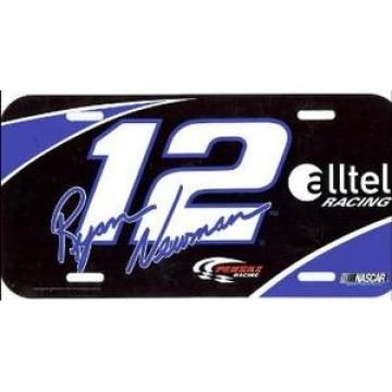 Ryan Newman #12 Nascar License Plate