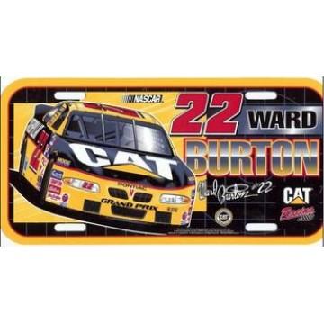 Ward Burton #22 Nascar Plastic License Plate