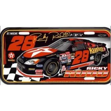 Ricky Rudd #28 Nascar Plastic License Plate