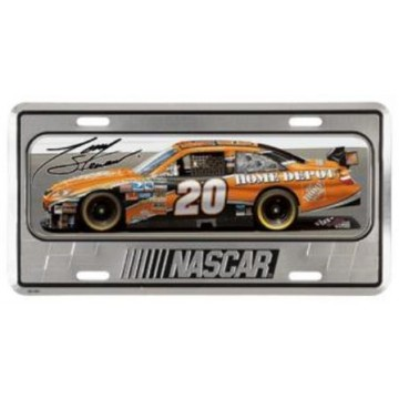 Tony Stewart Domed Metal License Plate