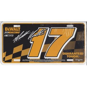 Matt Kenseth Metal License Plate