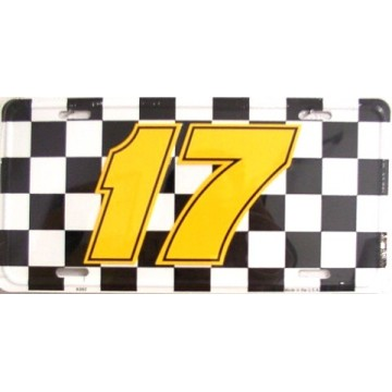 Nascar Racing #17 Metal License Plate