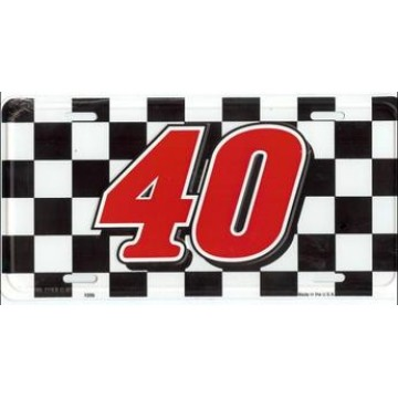 #40 Racing License Plate