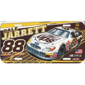 Dale Jarrett #88 Nascar Plastic License Plate