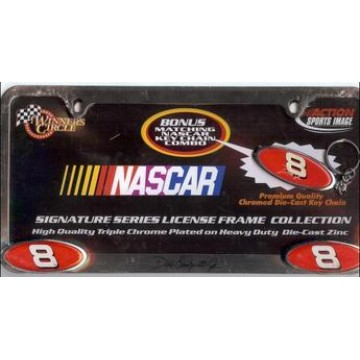 Dale Earnhardt Jr. Signature Series Chrome License Frame