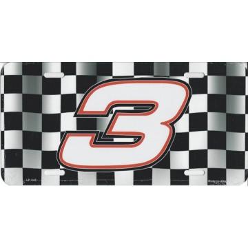 #3 Racing License Plate