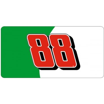 NASCAR #88 Green And White Photo License Plate
