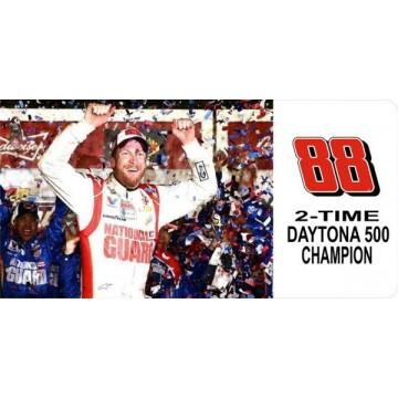 Dale Jr. #88 Two Time Daytona Champ Photo License Plate