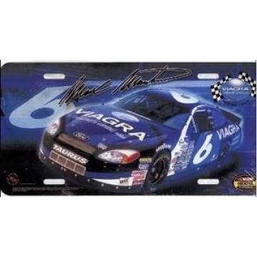 Mark Martin #6 Nascar License Plate