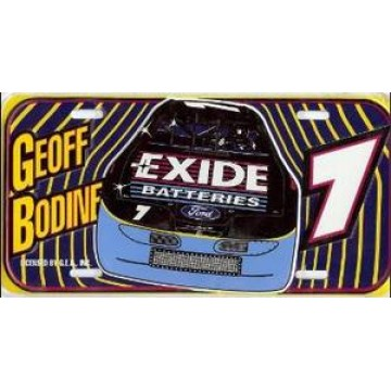 Geoff Bodine #7 Nascar License Plate